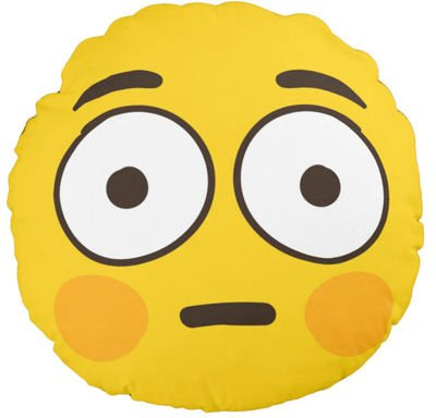Pduszka jasiek Flushed EMOJI EMOTICON EMOTKA pod-3115
